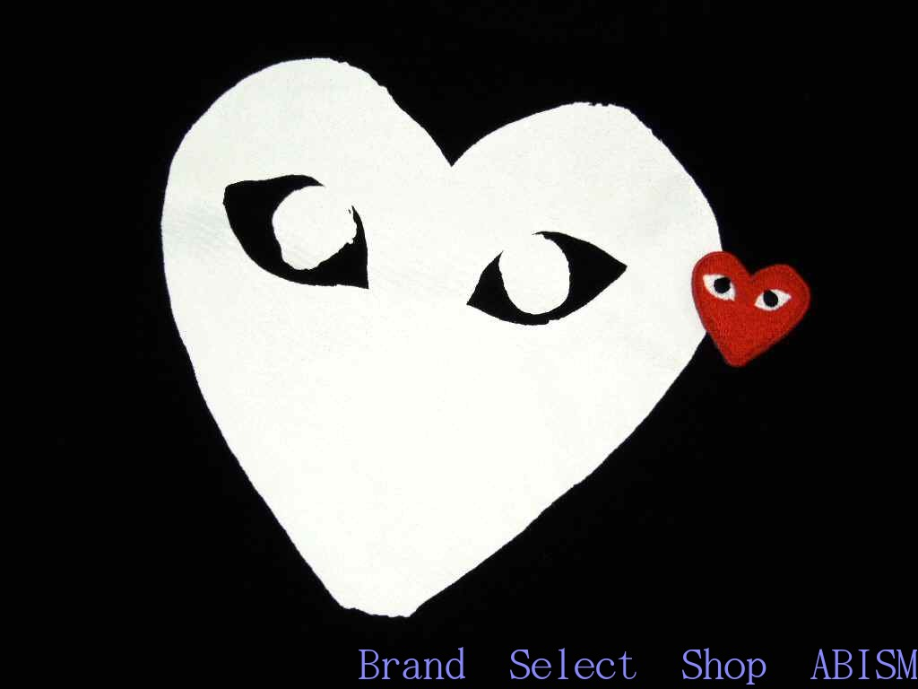 Boasting Great Popularity At Comme Des Garcons White PLAY Hearts TEE