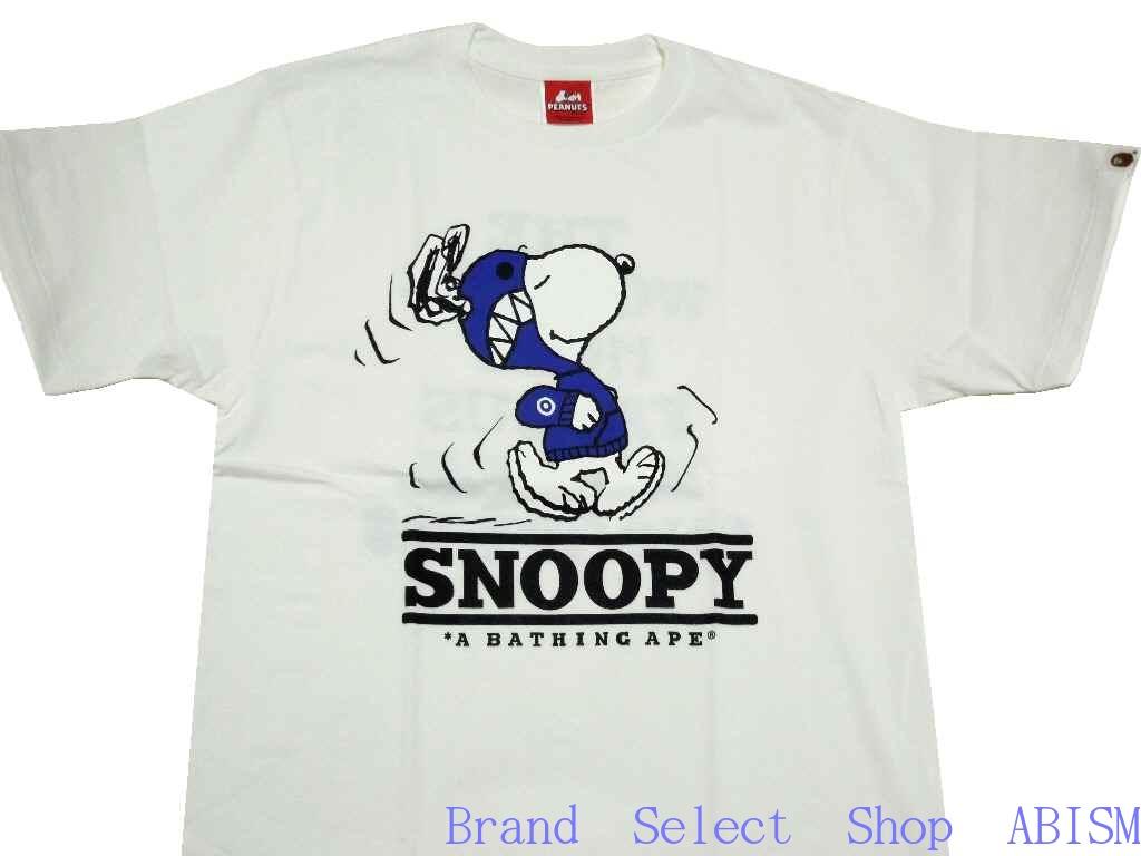 06316dab6b1 A BATHING APE (APE) xPEANUTS (peanut) Collaboration t-shirt. PEANUTS SHARK  SNOOPY TEE Sharksnoupe T shirt  White   New