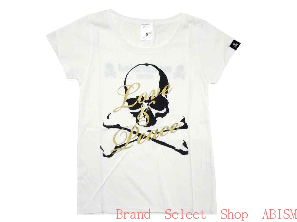 "mastermind JAPAN (mastermind Japan) ""EVE THE MASTERMIND FINAL' ' LOVE PEACE SKULL ' (Lady's ladies) (t-shirt) (white)"