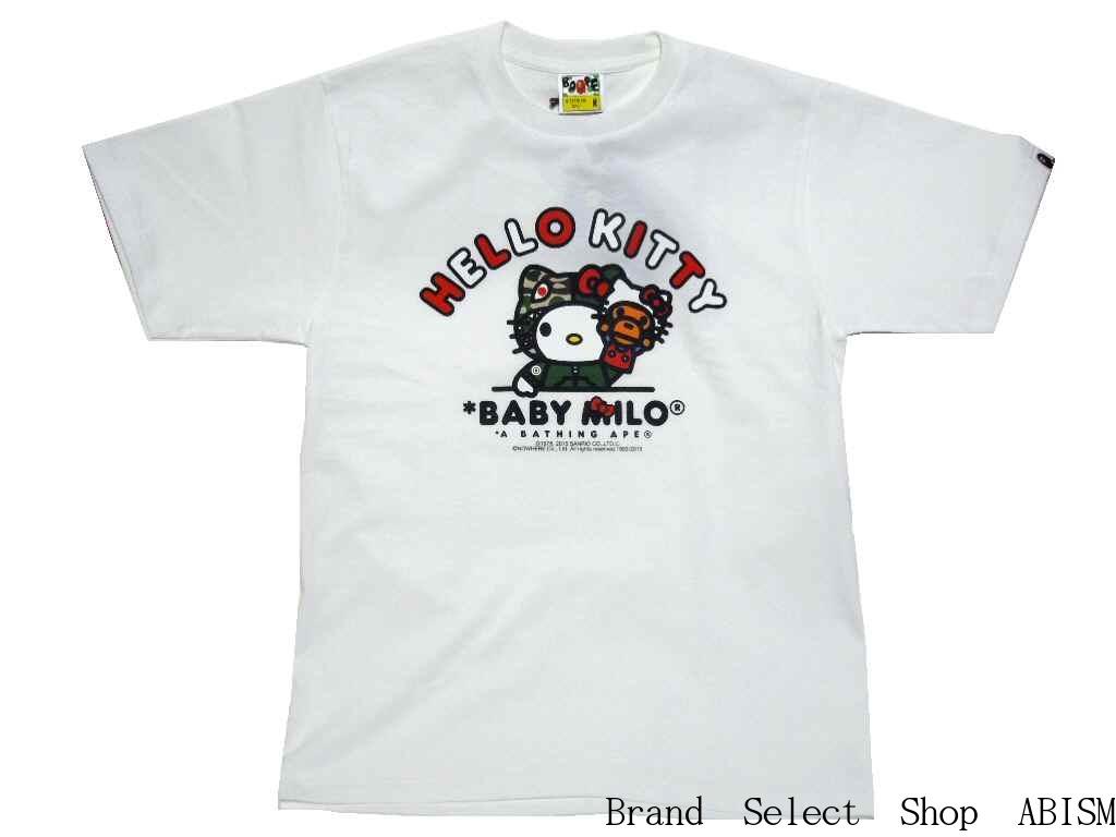 c70ad4677e23 A BATHING APE (APE) x HELLO KITTY (Hello Kitty) HELLO KITTY X MILO PUPPET  TEE  New   T-shirt   White   Made in Japan   BAPE   bape