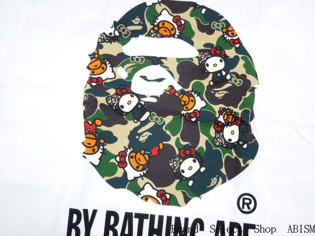 16c917ebda0d A BATHING APE (APE) x HELLO KITTY (Hello Kitty) HELLO KITTY X MILO CAMO BY  BATHING TEE  New   T-shirt   White   Made in Japan   BAPE   bape
