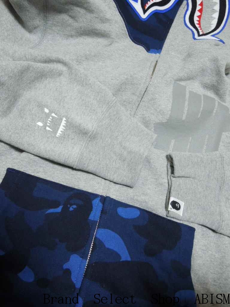 A BATHING APE (エイプ) × UNDEFEATED PIERROT SHARK FULL ZIP HOODIE 어릿광대 샤 크 파커 BAPE (ベイプ)