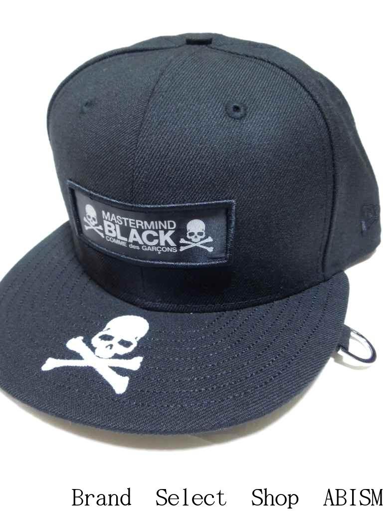 DOVER STREET MARKET GINZA限定!!mastermind JAPAN(マスターマインドジャパン)x BLACK COMME des GARCONS(ブラック・コム デ ギャルソン)NEW ERA CAP(ニューエラ キャップ)【2015年ss】【ブラック】【新品】