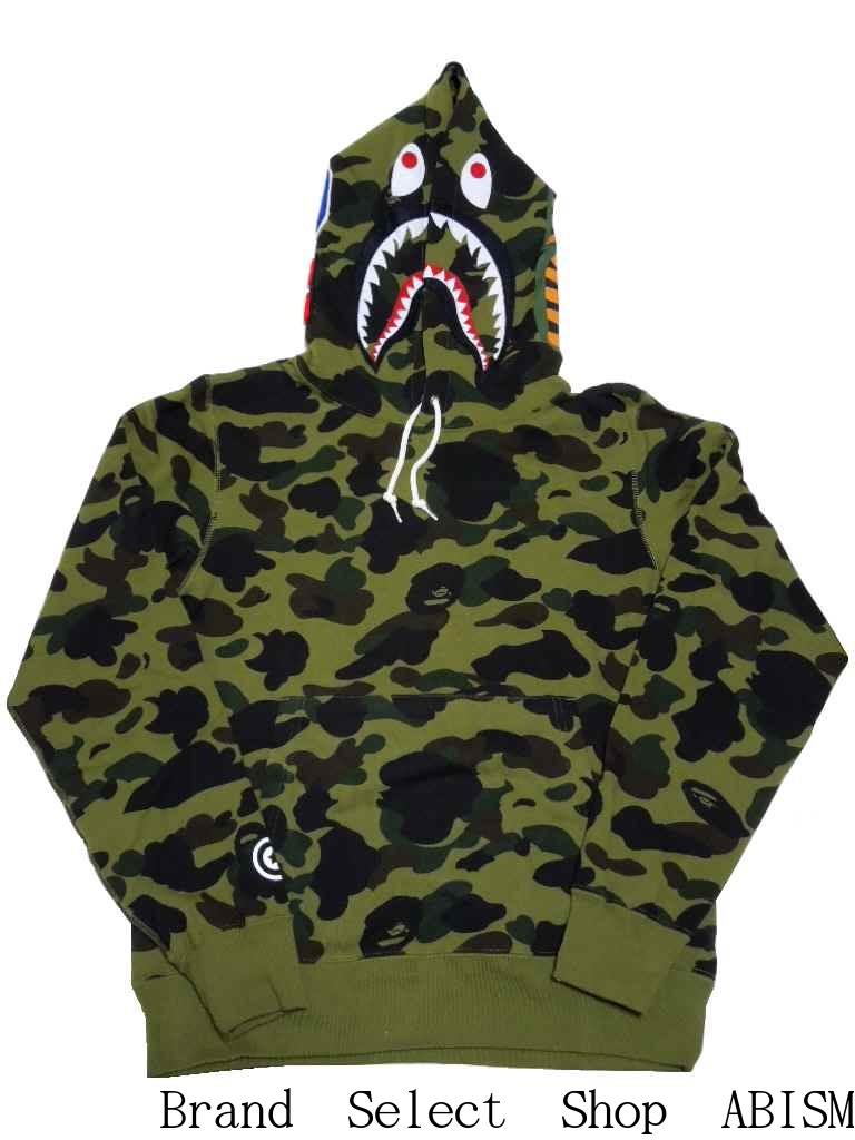 A BATHING APE (APE) 1 ST CAMO SHARK PULLOVER HOODIE shark pullover hoodies BAPE (BAPE).