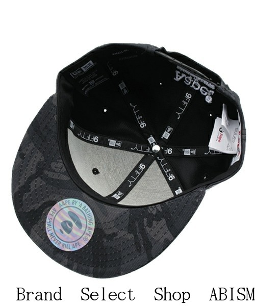 4ce28c162df (EAP by bathing APE) AAPE NEW ERA CAP  Black  CAP   Hat  New  The front AAPE  NYC motif embroidered emblem
