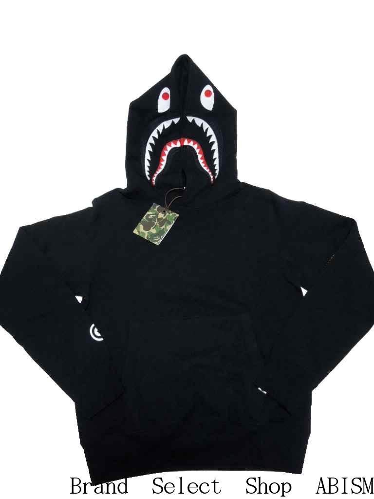 ad5aca52f231 A BATHING APE (APE) SHARK PULLOVER HOODIE Shark pullover Hoodie  SS 2015    Black   Made in Japan   New