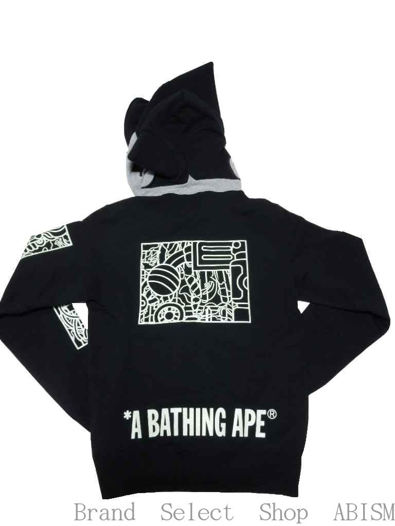 A BATHING APE (エイプ) x ASTRO BOY (아 스트로) MECHANIC FULL ZIP HOODIE 풀 지퍼 후드 BAPE (ベイプ)