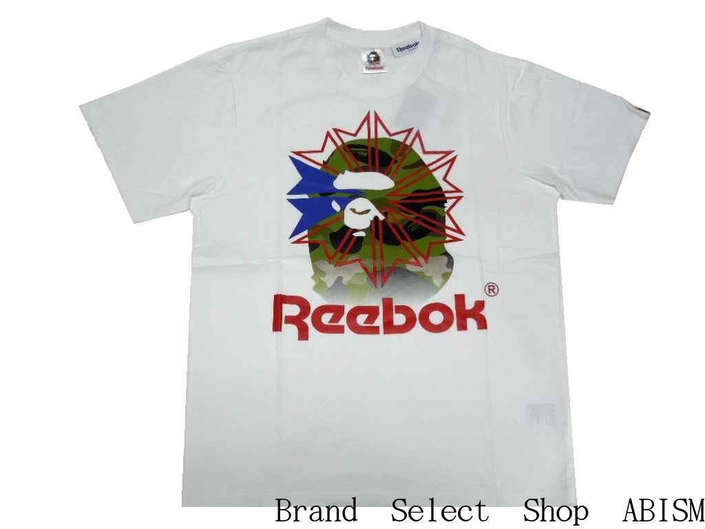 859611ea3 A BATHING APE (APE) x Reebok CLASSIC (Reebok classic) BAPE X Reebok TEE 02 [ T-shirt] [White] [New] [BAPE / bape]