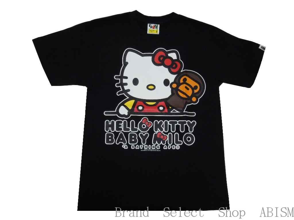 7738e59c1294 A BATHING APE (APE) x HELLO KITTY (Hello Kitty) KITTY X MILO TEE  4   T-shirt   Black   New   Made in Japan   BAPE   bape