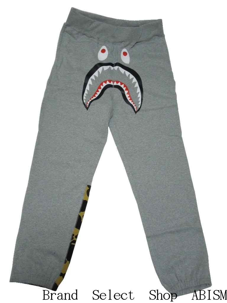 A BATHING APE(エイプ)1ST CAMO SHARK SWEAT PANTS【スウェットパンツ】【グレー】【新品】【BAPE/ベイプ】