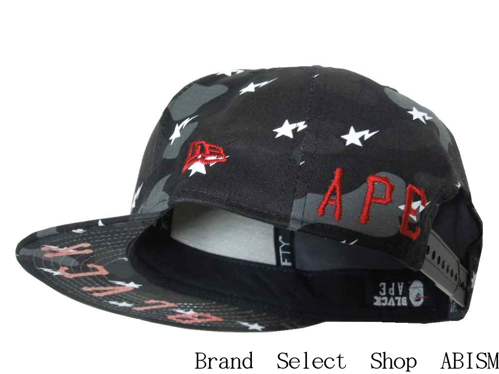fa525255908 A BATHING APE (APE) x BLACK SCALE (black scale) BLACK SCALE CAMO SNAP BACK  CAP snap back Cap BAPE (BAPE)