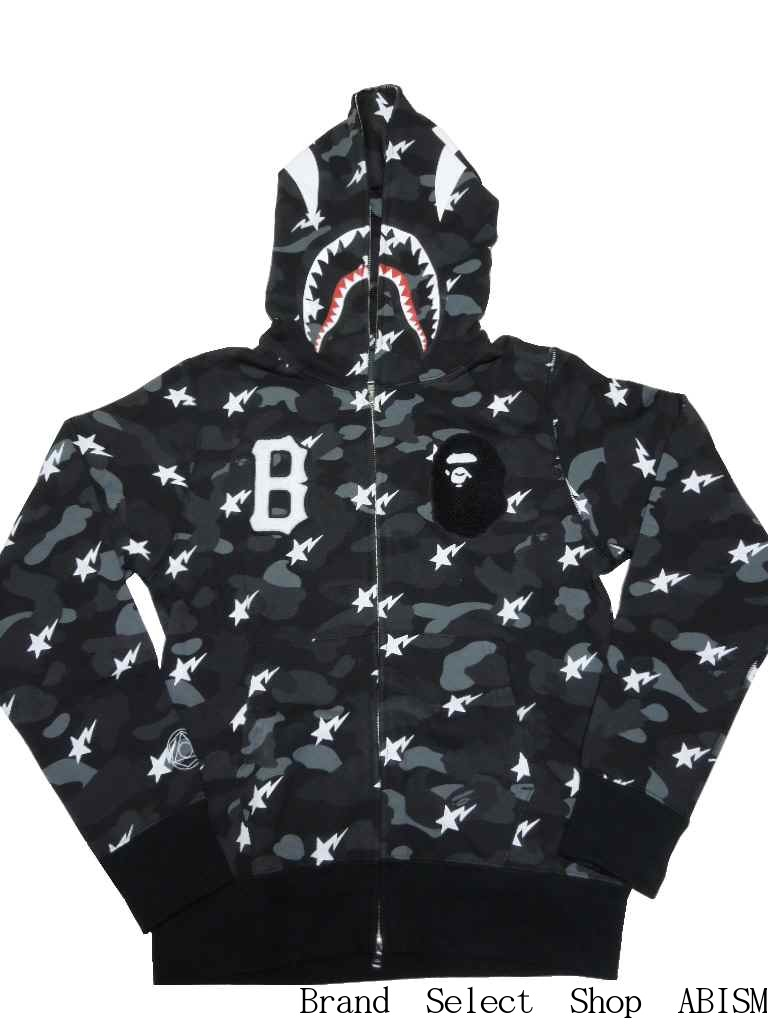 6024817f399b x BLACK SCALE (black scale) CAMO SHARK FULL ZIP HOODIE Shark Full Zip Hoodie   Black CAMO   Made in Japan   New  BAPE (BAPE)