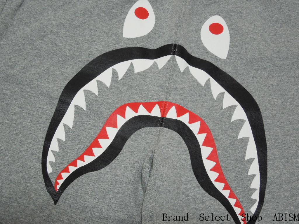 A BATHING APE (エイプ) SHARK SWEAT SHORTS 상어 스웨트 반바지 BAPE/ベイプ