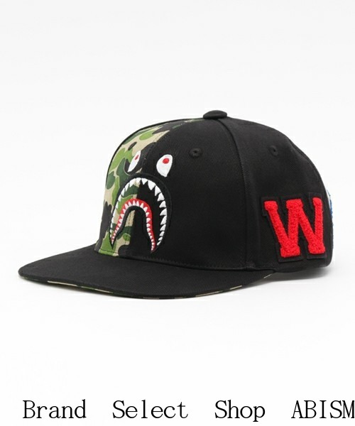 ABC SHARK SNAP BACK CAP Snap back caps  Black   Made in Japan   New  BAPE ( BAPE) 6a00d9f5ce5