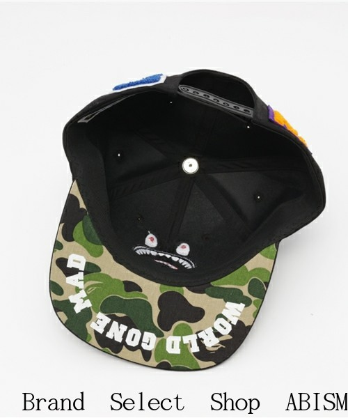 A BATHING APE (エイプ) ABC SHARK SNAP BACK CAP 스냅 백 캡 BAPE (ベイプ)