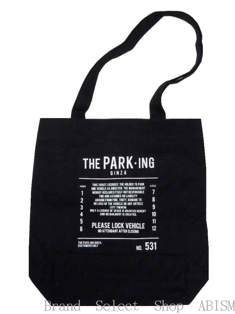 THE PARK-ING GINZA (the parking Ginza) SOUVENIR TOTE BAG (S) THE PARKING GINZA