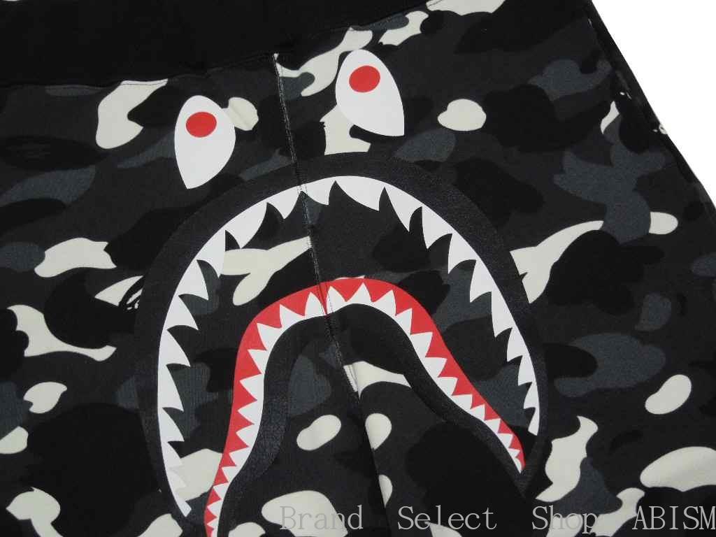 A BATHING APE (エイプ) CITY CAMO SHARK SWEAT SHORTS 상어 스웨트 반바지 BAPE/ベイプ