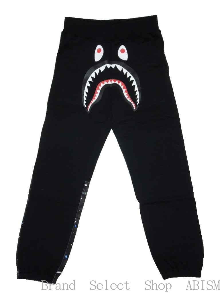 9eb464e5579 brand select shop abism  A BATHING APE (APE) SPACE CAMO SHARK SWEAT PANTS  shark sweatpants