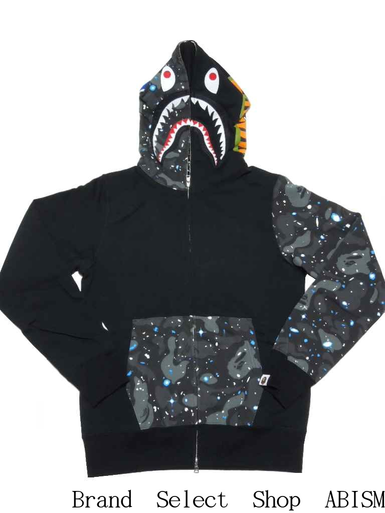 A BATHING APE (APE) SPACE CAMO SHARK FULL ZIP HOODIE shark full zip hoodies BAPE (BAPE)