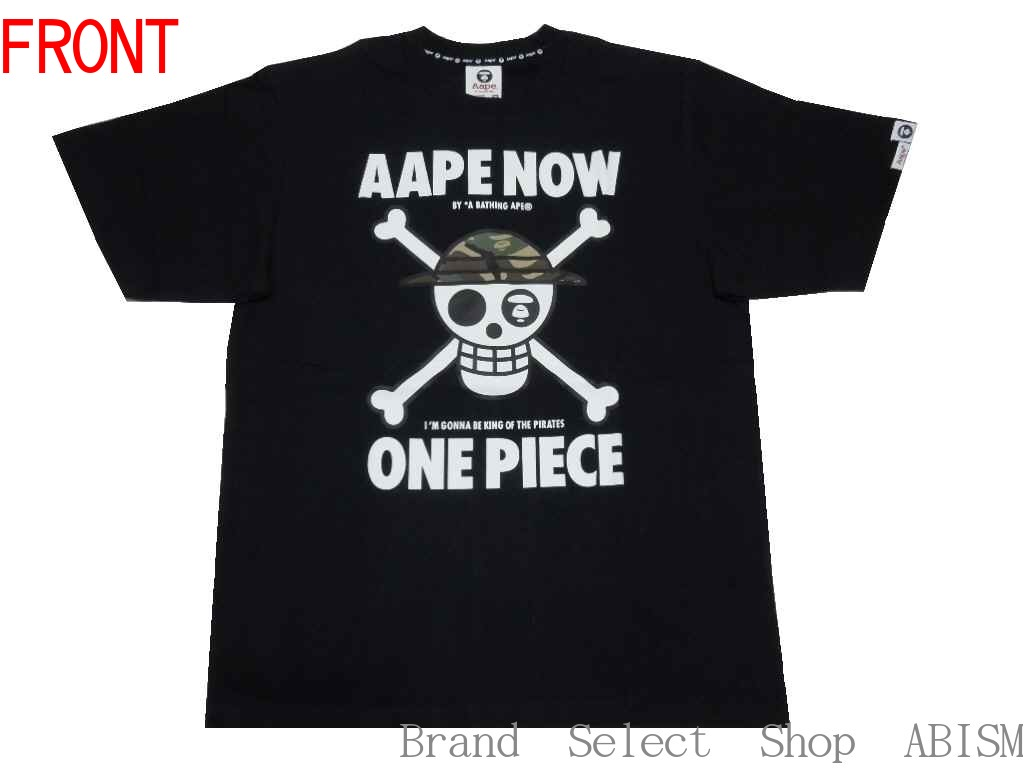 AAPE BY A BATHING APE (EAP by bathing APE) AAPE x ONE PIECE Logo Tee   T-shirt   Black   New   EAP x one piece  c0a498179