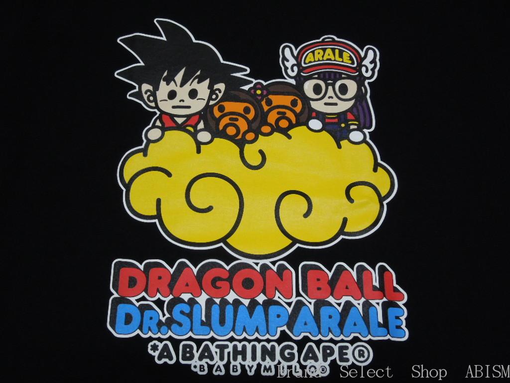 A BATHING APE (エイプ) BAPE X DRAGON BALL + DR. SLUMP ARALE TEE # 2 (드래곤볼 + Dr. 슬 럼 프 아 라 레 치 않음)