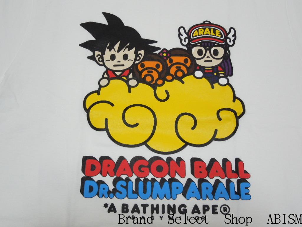 楽天市場 代引き不可 A Bathing Ape エイプ Bape X Dragon Ball Dr Slump Arale Tee 2 ドラゴンボール Dr スランプ アラレちゃん Tシャツ ホワイト 新品 日本製 Bape ベイプ Brand Select Shop Abism
