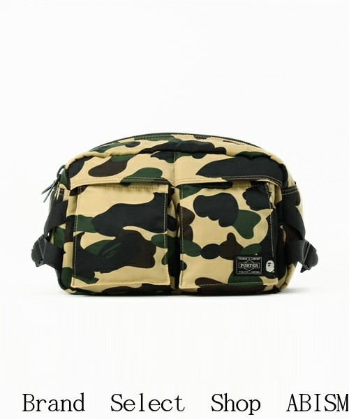 3411a60258d6 A BATHING APE (APE) 1ST CAMO WAIST BAG  Waist bag   Shoulder bag   bumbag    YELLOW CAMO   New   Made in Japan   BAPE   bape