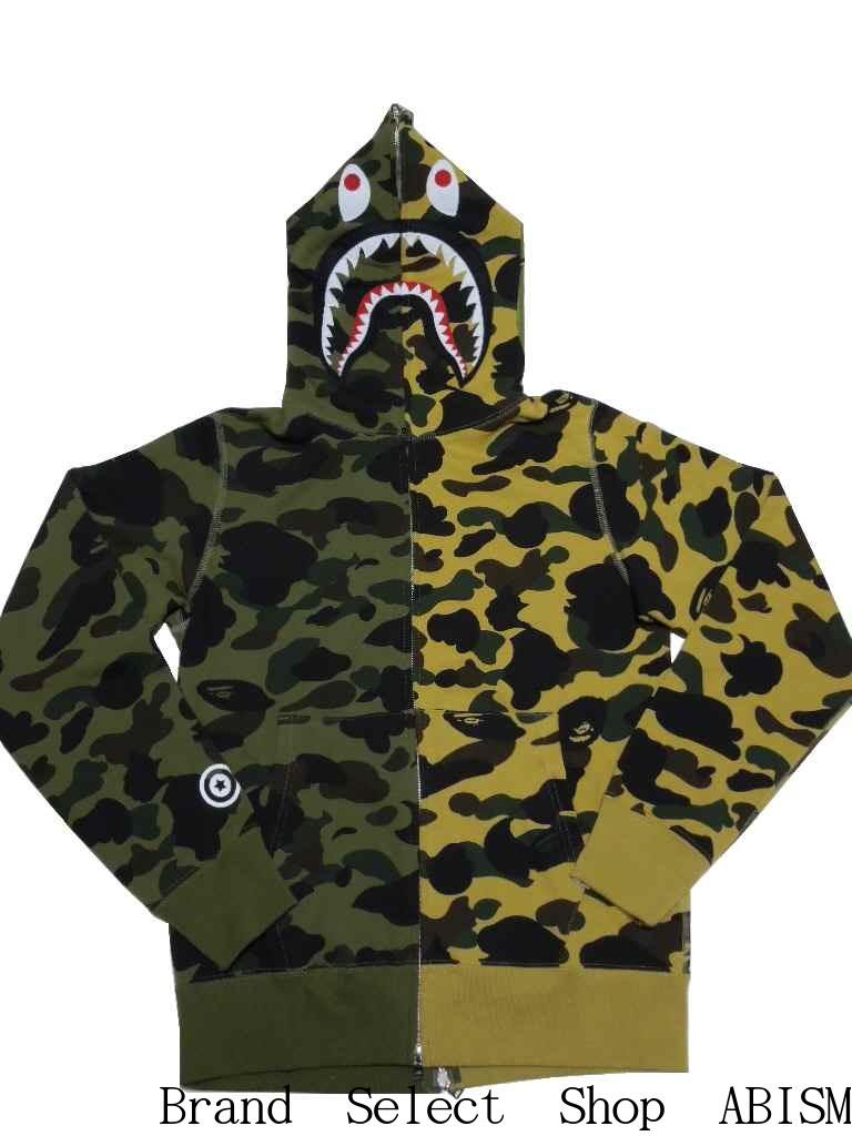e6ab7f8fd69a brand select shop abism  A BATHING APE (APE) 1ST CAMO HALF  amp  HALF SHARK  FULL ZIP HOODIE shark full zip hoodies BAPE (BAPE)