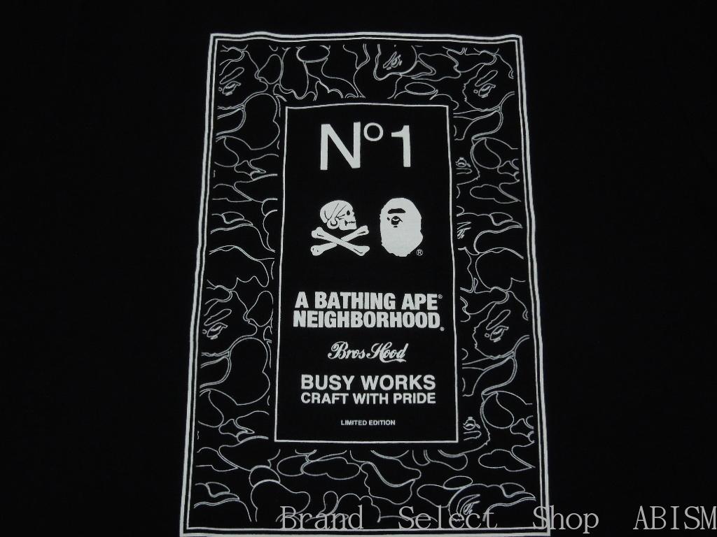 A BATHING APE(에이프) x NEIGHBORHOOD(네이버후드) BAPE NBHD TEE #1(T셔츠) BAPE(베이프)