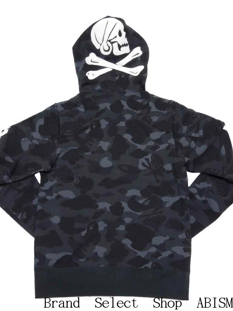 dd9084fe6 x NEIGHBORHOOD(ネイバーフッド) BAPE NBHD CAMO SHRAK FULL ZIP HOODIE Shark full zip  parka [black] [product made in Japan] [new article] BAPE (ベイプ)