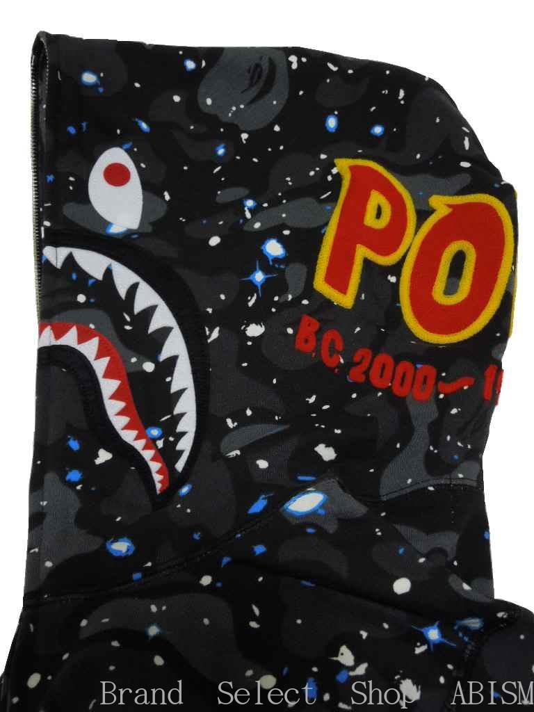 A BATHING APE (エイプ) SPACE CAMO SHARK FULL ZIP HOODIE shark full zip parka BAPE (ベイプ)