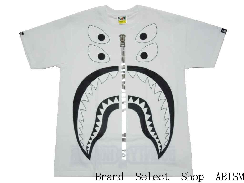 d5d4c57cf A BATHING APE (エイプ) X BOUNTY HUNTER (バウンティハンター) BAPE X BXH BIG MAD SHARK TEE  (BOUNTY HUNTER store-limited model) [T-shirt] [white] [new article]