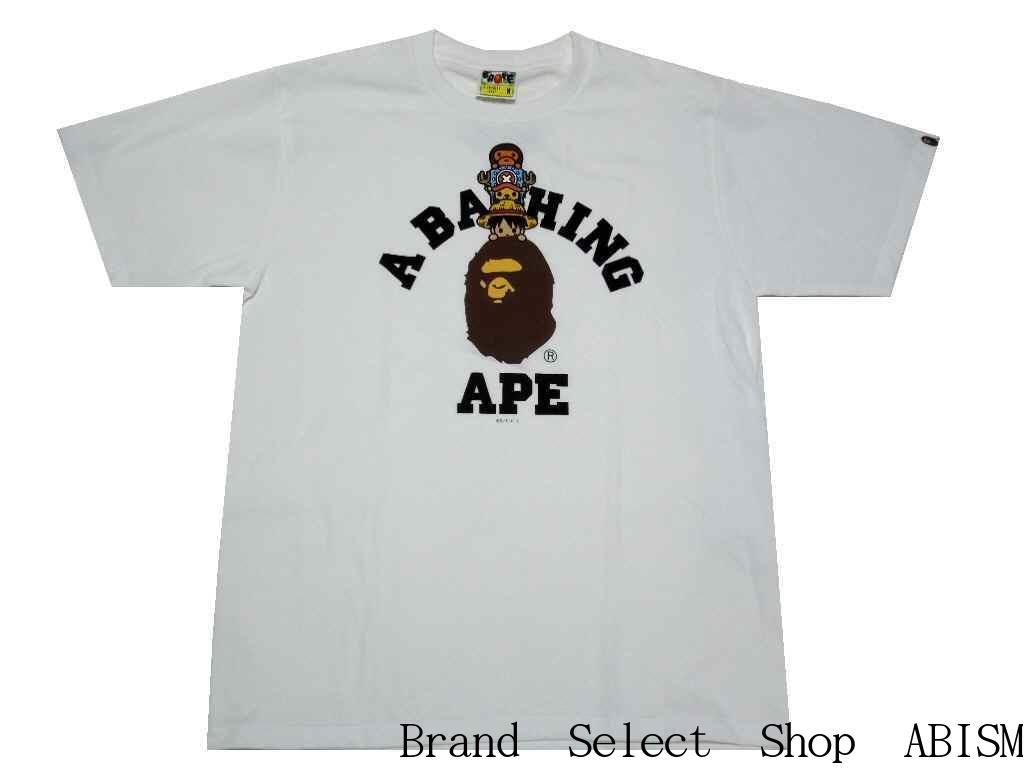 0ba938e7 A BATHING APE (エイプ) X ONE PIECE (dress) LUFFY & CHOPPER X MILO COLLEGE TEE  (ルフィ + chopper + milo) [T-shirt] [white] [new article]