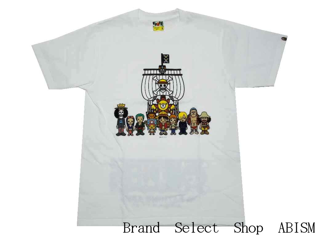 050ab5bf X ONE PIECE (dress) THOUSAND SUNNY TEE (Shinjuku Isetan store-limited item)  [T-shirt] [white] [new article] [product made in Japan] [BAPE/ ベイプ]