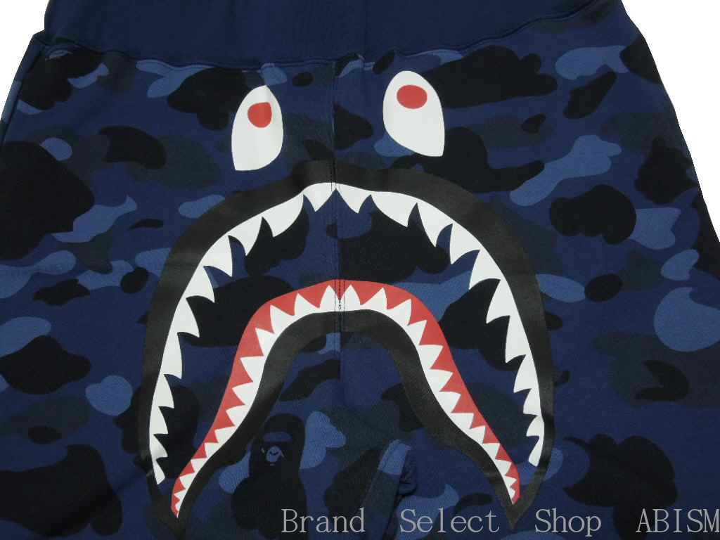 A BATHING APE (???) COLOR CAMO SHARK SWEAT SHORTS shark sweat shirt shorts BAPE ???