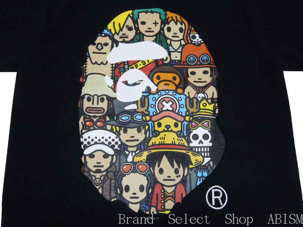 d897972a A BATHING APE (エイプ) X ONE PIECE (dress) CHARACTERS APE HEAD TEE  (キャラクターエイプヘッド) [T-shirt] [black] [new article] [product made in Japan] [BAPE/  ...