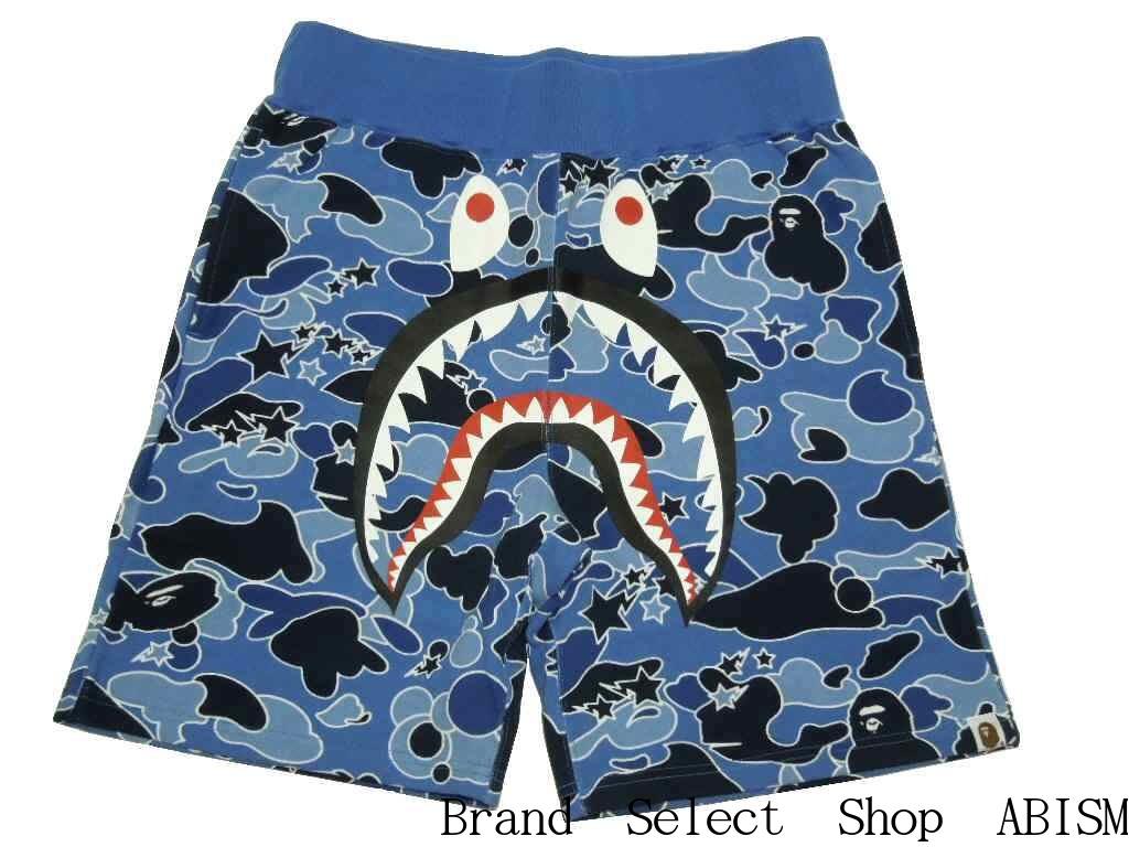 0bc3b9227eca A BATHING APE (エイプ) STA CAMO SHARK SWEAT SHORTS Shark sweat shirt shorts   blue CAMO   new article   product made in Japan