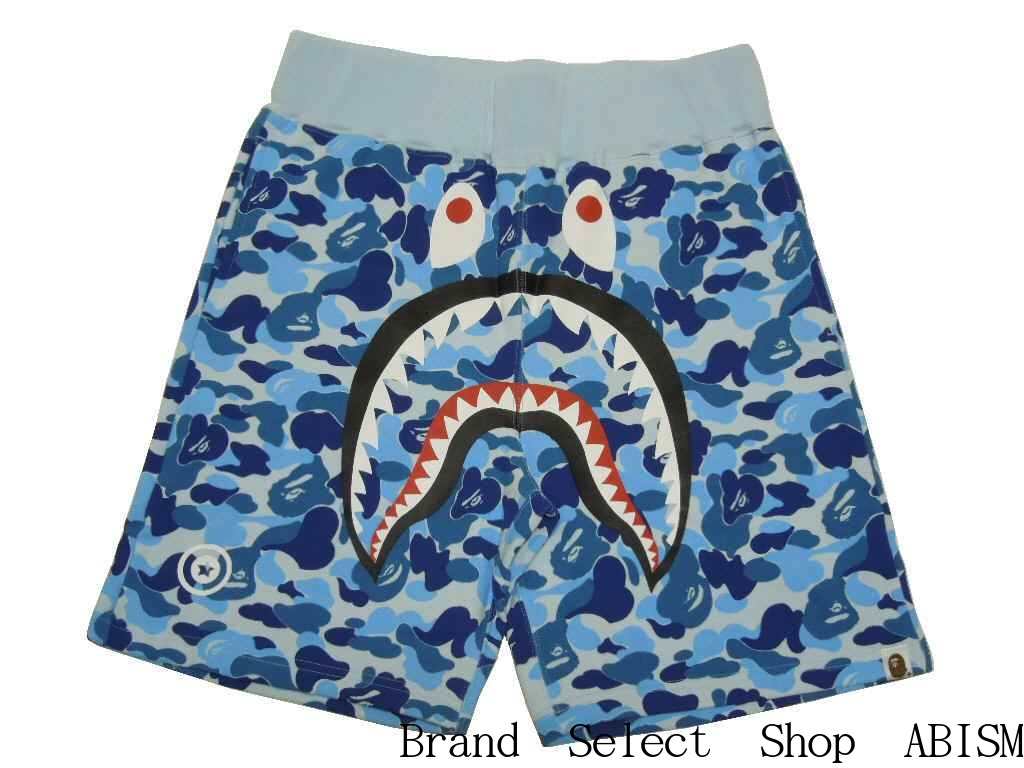 collect on delivery impossibility  A BATHING APE (エイプ) ABC SHARK SWEAT  SHORTS Shark sweat shirt shorts  blue CAMO   new article   product made in  Japan  cb2b6d7092cb