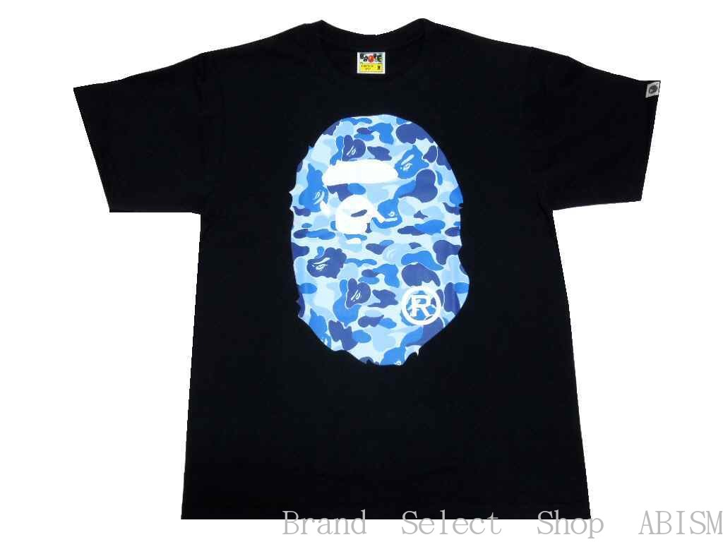 4a364c35a [collect on delivery impossibility] A BATHING APE (エイプ) ABC CAMO BIG APE  HEAD TEE [T-shirt] [black] [new article] [BAPE/ ベイプ]