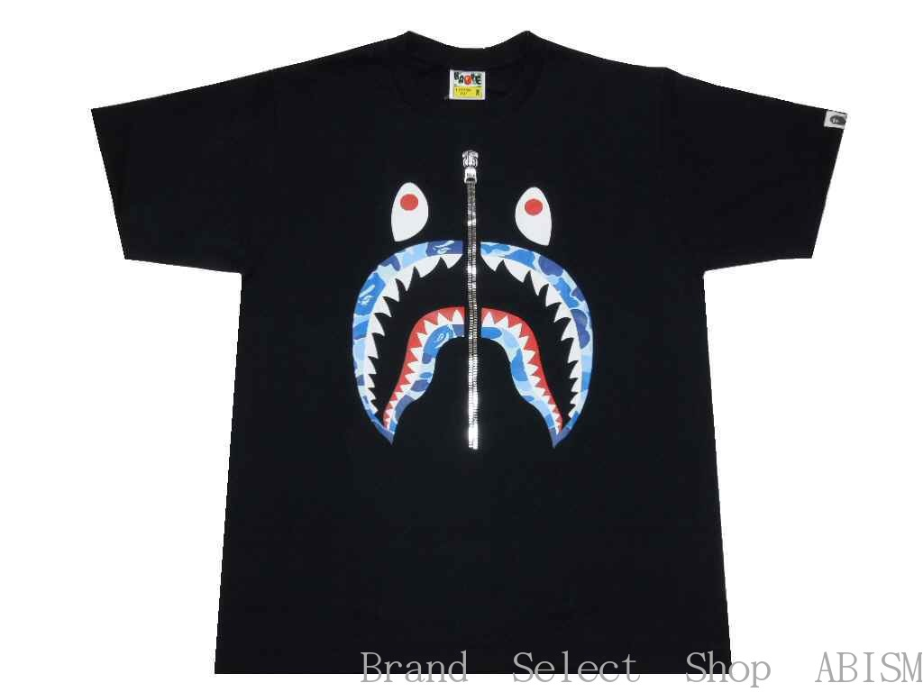 Collect On Delivery Impossibility A BATHING APE ABC CAMO SHARK TEE T Shirt Black New Article BAPE
