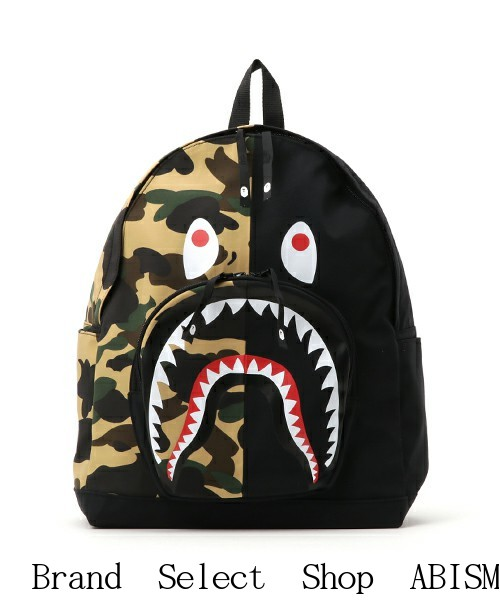 Bape Shark Backpack >> Brand Select Shop Abism A Bathing Ape エイプ 1st Camo Shark Day