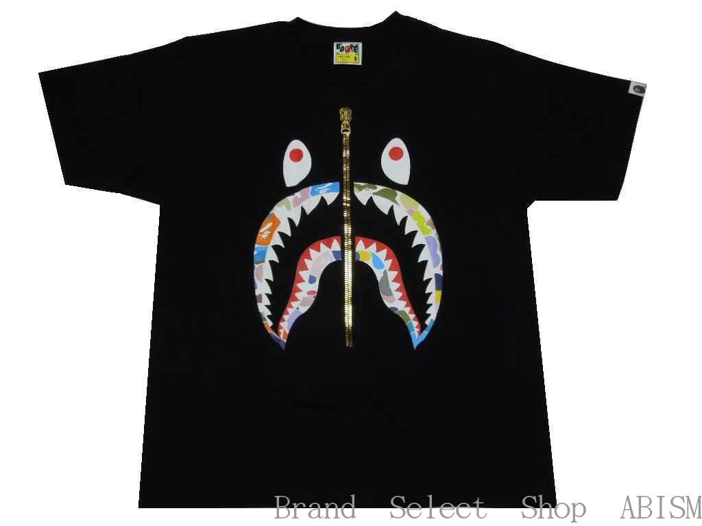 【代引き不可】A BATHING APE(エイプ)MULTI CAMO SHARK TEE【Tシャツ】【ブラック】【新品】【Men's】【BAPE/ベイプ】