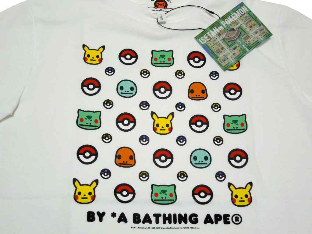 c4fba238 With A BATHING APE (アベイシングエイプ) It is a collaboration T-shirt of POKEMON ( Pokemon).