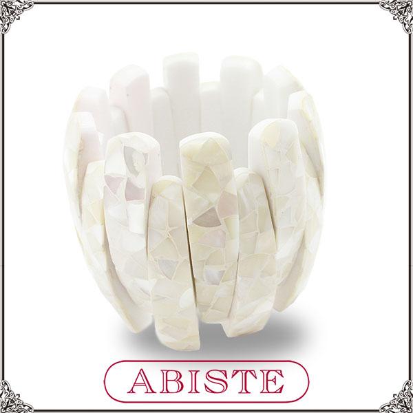 ABISTE(アビステ) シェルデザインバングル/ホワイト 4400042 レディース 女性 人気 上品 大人 かわいい おしゃれ アクセサリー ブランド 誕生日 ギフト プレゼント ラッピング無料