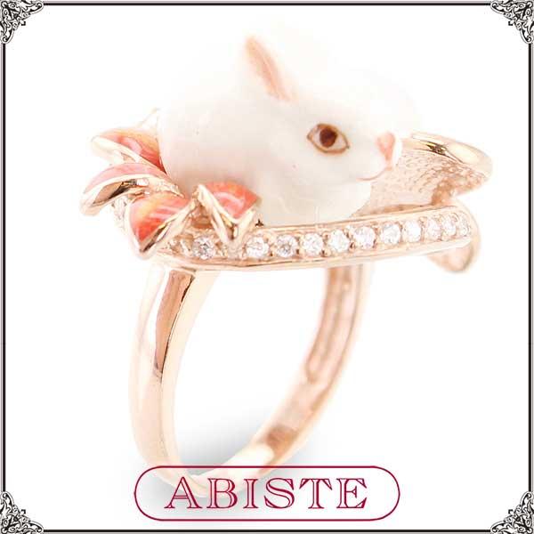 【送料無料】 ABISTE(アビステ) ラビットパールリング/ベージュ 6401019 レディース 女性 人気 上品 大人 かわいい おしゃれ アクセサリー ブランド 誕生日 ギフト プレゼント ラッピング無料