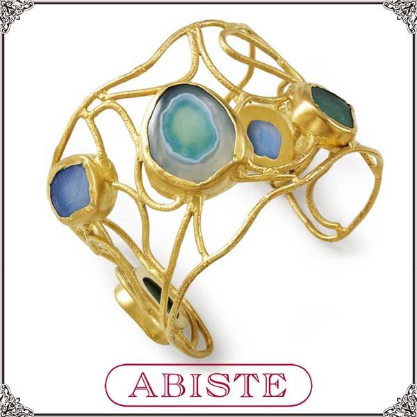 【送料無料】 ABISTE(アビステ) 天然石バングル/ブルー 4300017 レディース 女性 人気 上品 大人 かわいい おしゃれ アクセサリー ブランド 誕生日 ギフト プレゼント ラッピング無料