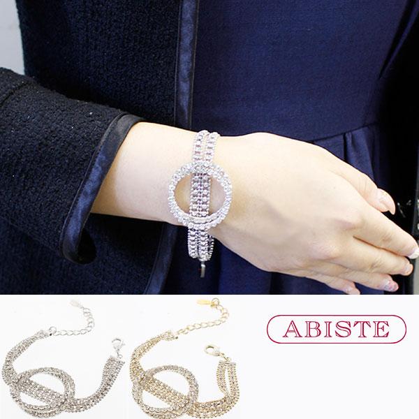 ABISTE(アビステ) クリスタルチェーンブレスレット 4171050 レディース 女性 人気 雑誌 大人 おしゃれ 腕時計 ブランド ギフト ウォッチ ラッピング無料 30代 40代