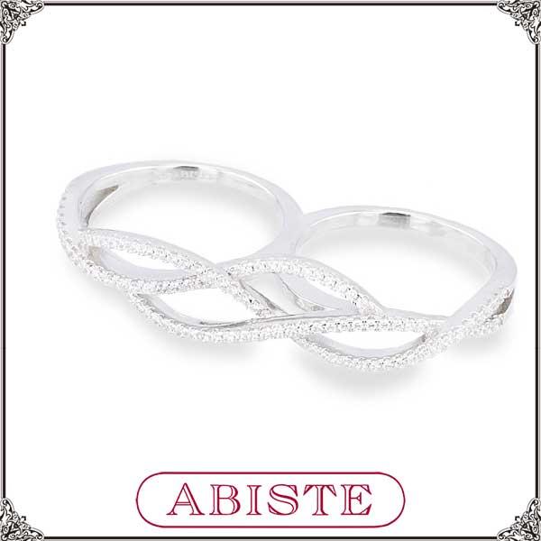 【送料無料】 ABISTE(アビステ) シルバー925×ジルコニアツインリング/シルバー 6150083 レディース 女性 人気 上品 大人 かわいい おしゃれ アクセサリー ブランド 誕生日 ギフト プレゼント ラッピング無料