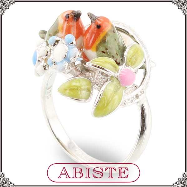 【送料無料】 ABISTE(アビステ) 小鳥リング/グリーン 6401015 レディース 女性 人気 上品 大人 かわいい おしゃれ アクセサリー ブランド 誕生日 ギフト プレゼント ラッピング無料