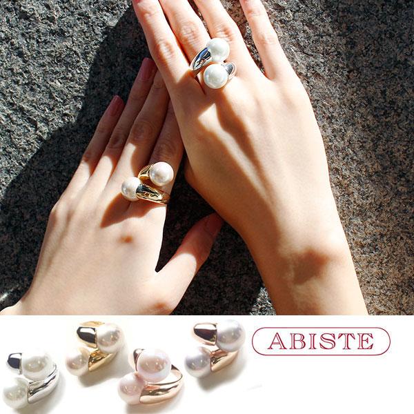 ABISTE(アビステ) マジョルカパールデザインリング 6181002 レディース 女性 人気 上品 大人 かわいい おしゃれ キラキラ アクセサリー ブランド 誕生日 ギフト 30代 40代